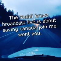The Ruddi Bruce broadcast live .