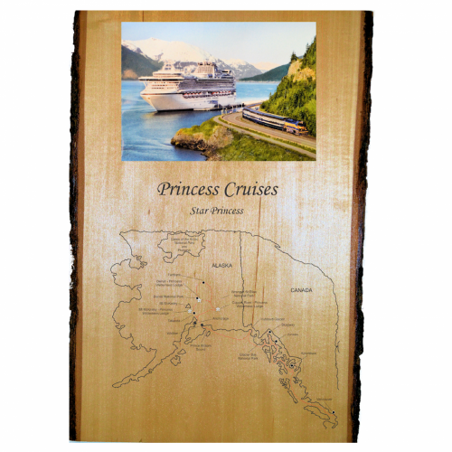 Engraved Image -  Plaque -Princess Cruises